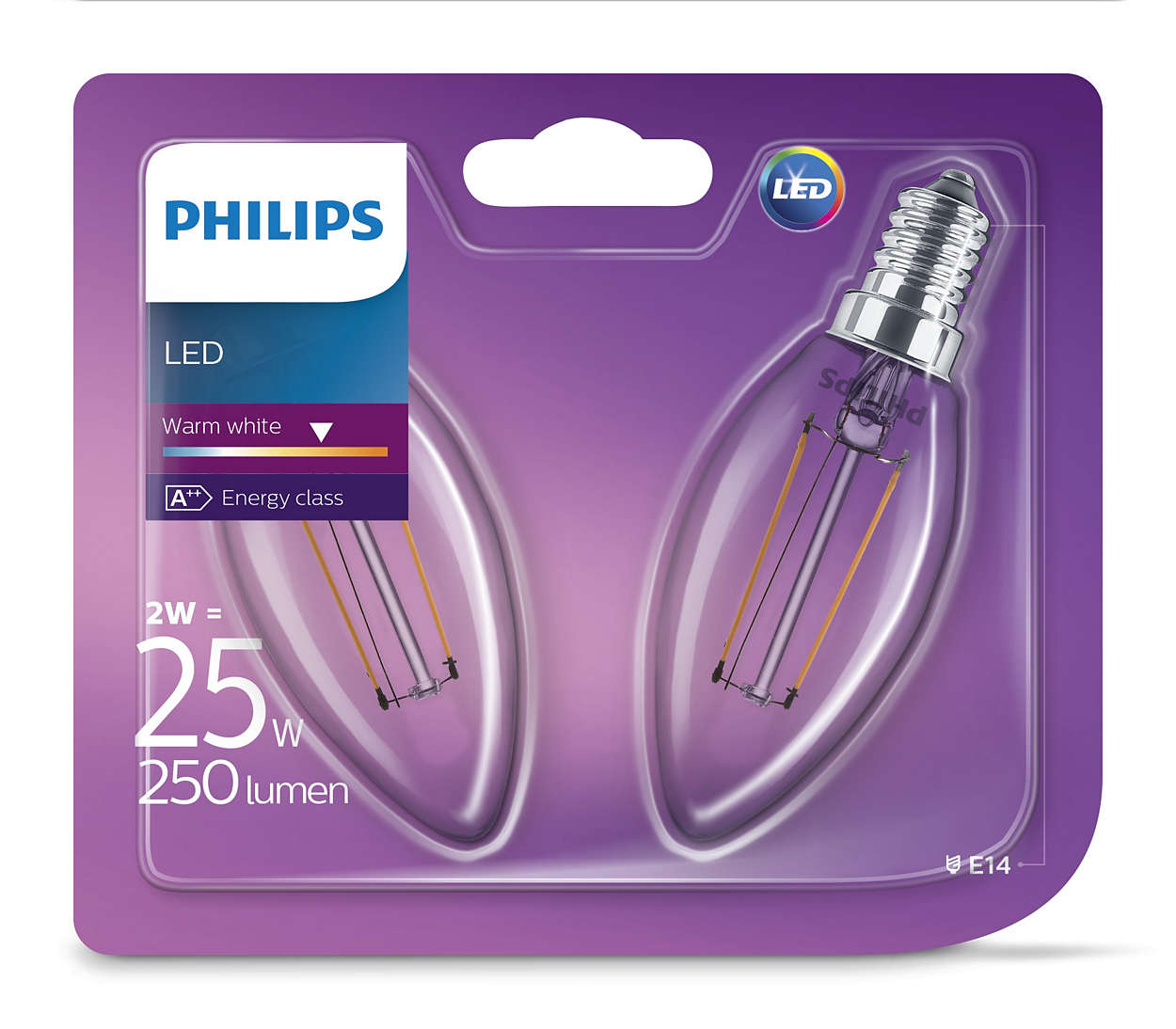 Żarówki retro LED E14 2W
