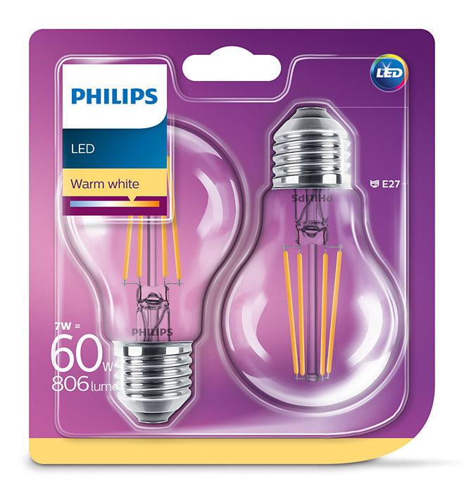 Żarówki retro Philips LED 7W